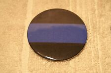 Blue Line Fallen Police Officer Pin On Button 2 1/4""