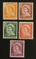 New Zealand. Definitive Stamps. SG745+. 1955-56. MNH. AF374