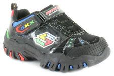 Scarpe sneakers nera con chiusura a strappo per bambini dai 2 ai 16 anni