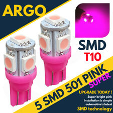 2X 501 PROJECTOR LED 5 SMD HID SUPER BRIGHT PINK REFLECTION T10 W5W BULBS