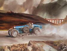 Bugatti 35 Targa Florio pintura al óleo originales