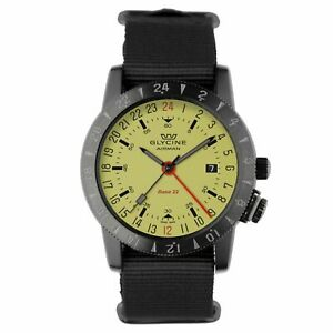 Glycine 3887.95SL.TB99 Men's Airman Base 22 Green Automatic Watch