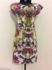 867fdb4697a8c6 Ted Baker Minala T-Shirt Mini Dress Size 2 10-12 UK Mirrored Floral