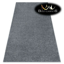 Hardwearing Soft carpets 'SANTA FE' grey plain one colour Rug Best-carpets