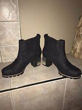 SOREL Addington Chelsea Boots Black Kettle Waterproof SZ 10