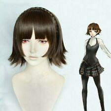 Persona 5 Makoto Niijima Game Short Brown mixed braid hair Cosplay Costume wig