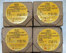 KODAK PLUS X AEROGRAPHIC FILM 2402 ESTAR BASE ISO A200(70mm x 100ft) Pack of 4