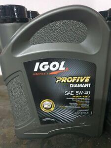 HUILE MOTEUR synthetique IGOL PROFIVE DIAMANT 5W40 MB BMW PORSCHE FORD FIAT VW