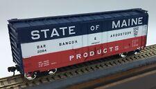"ACCUREADY BANGOR & AROOSTOOK 40' PLUG DOOR BOX - ""STATE OF MAINE"" HO SCALE - RTR"