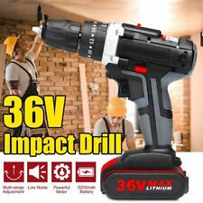 36V 5200mAh Lithium Cordless Electric Screwdriver Power Drill Driver 1 Battery
