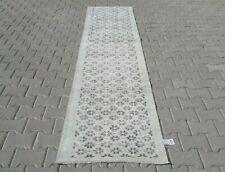 GREEN Turkish Hallway Runner 2x10ft Vintage Oushak Anatolian Handmade Wool Rug