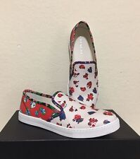 COACH Parkside Tea Rose PVC Floral Slip-On Shoes in Red Blue Multi Size 8.5