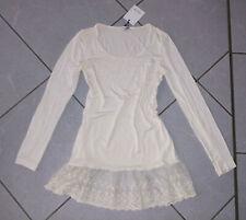 KAFFE Kleid Unterkleid creme cream beige M 38 40 Lagenlook Spitze langarm NEU