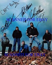 THE DEADLIEST CATCH SIGNED AUTOGRAPHED 8x10 RP PHOTO ALL 5 CAPTAINS PHIL HARRIS