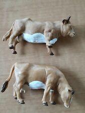 Vintage  BRITAINS Plastic JERSEY Bull 1970 & Cow 1984