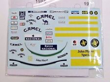 1/18 A. Senna Figure Decal Lotus Camel JPS for Minichamps