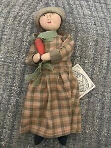 """Huckleberry Doll by Jacqueline Baird - Handmade Folk Art Cloth Doll - 16"""""""
