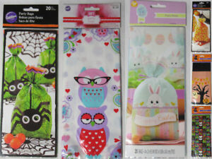 Wilton Halloween Easter Valentine Occasion 20 Party Treat Bags New U pick
