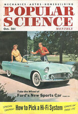 POPULAR SCIENCE OCT 54 FORD THUNDERBIRD_GAS TURBINE CARS_NY STATE THRUWAY_HI-FI