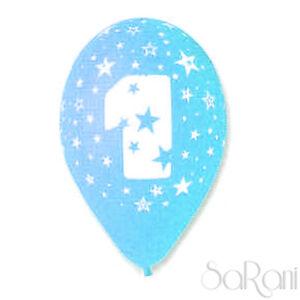 Palloncini 1 Anno Celeste 20 pz Palloni Compleanno Festa Party Decorazioni 30 cm