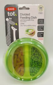 OXO Tot Divided Feeding Dish with Removable Ring Green