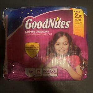 27 Ct Package 2013 Vintage Girls Goodnights Tall Diaper Pull Up XL Bedwetting