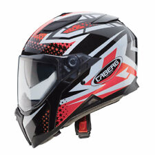 CASCO INTEGRALE CABERG JACKAL SNIPER - BLACK - WHITE - RED FLUO TAGLIA M