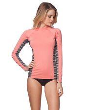 Rip Curl Trestles Long Sleeve Rashguard - Women's - Large, Coral