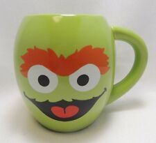 Sesame Street Oscar The Grouch And Slimey Scram! 18 Ounce Oval Coffee Mug New