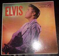 "ELVIS PRESLEY ALBUM ""ELVIS"" MONO RCA ADS ON BACK, LONG PLAY ON BOTTOM 1956"