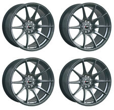 "XXR 527 17"" X 7.5 ET40 4x100 4x114.3 Noir Chrome Jantes Alliages Wheels Light Z3460"