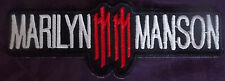 MARILYN MANSON EMBROIDERED  PATCH GOLDEN AGE OF GROTESQUE DIY BIKER PUNK