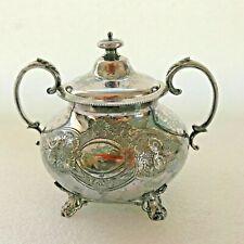 sucrier en métal argenté Maison Armand Frenais théière thé café cofee