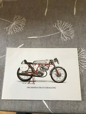 Genuine Honda CR110 Postcard Picture Card Monkey Bike Z50 Cz100 Z50m