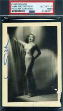 Marlene Dietrich PSA DNA Cert Signed Photo Autograph