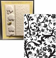 CGULL Embossing Folders BUTTERFLY FLORAL 12-0004 Insects Cuttlebug Compatible