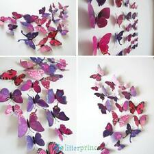 12Pcs Set Magnet 3D Butterfly Art Wall Stickers Home Decals Party Decorations