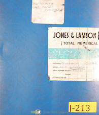 Jones & Lamson 312A Textron A-Line, Lathe Wiring Diagrams manual 1980