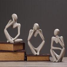 Nordic Thinker People Statue Resin Figurine Modern Art Crafts Home Decoration