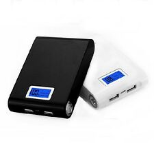 NEW Black Dual USB 5V 2A Mobile Power Bank 4 18650 Charger Box With Module Board