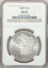 1880 S San Francisco  Morgan Dollar NGC MS 64