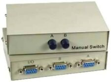 All Female}DB9 pin Serial RS232 2way AB data cable/cord/wire Switch Box$SHdisc{T