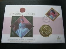 Pitcairn Islands 2012 $2 Dollars Coin & Stamp Cover - Queen's Diamond Jubilee