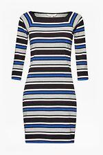 3/4 Sleeve Tunic Striped Regular Size Dresses for Women