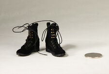 VERY HOT Female Combat Boots Black 1/6 Fit for Phicen Kumik Body