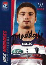 ✺Signed✺ 2017 MELBOURNE REBELS Rugby Union Card JACK MADDOCKS
