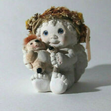 """Dreamsicles Cast Art~ Hand Crafted Cherub Angel With Little Bear Figurine ~2"""""""