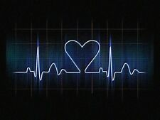 POSTER A4 -- Amore Cuore su un Heartbeat Monitor (foto poster arte medica)