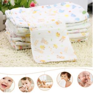 10pcs Baby Newborn Gauze Muslin Square 100% Cotton Boy Girl Bath Wash Towel HOT