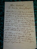 LETTRE MANUSCRITE CHANT CAPITAINE VALLEE REVOLTE PROVENCE BONAPARTISTE 1822